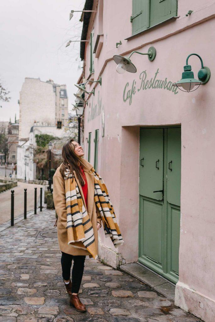 Portrait shoot for photographer in Montmartre in Paris