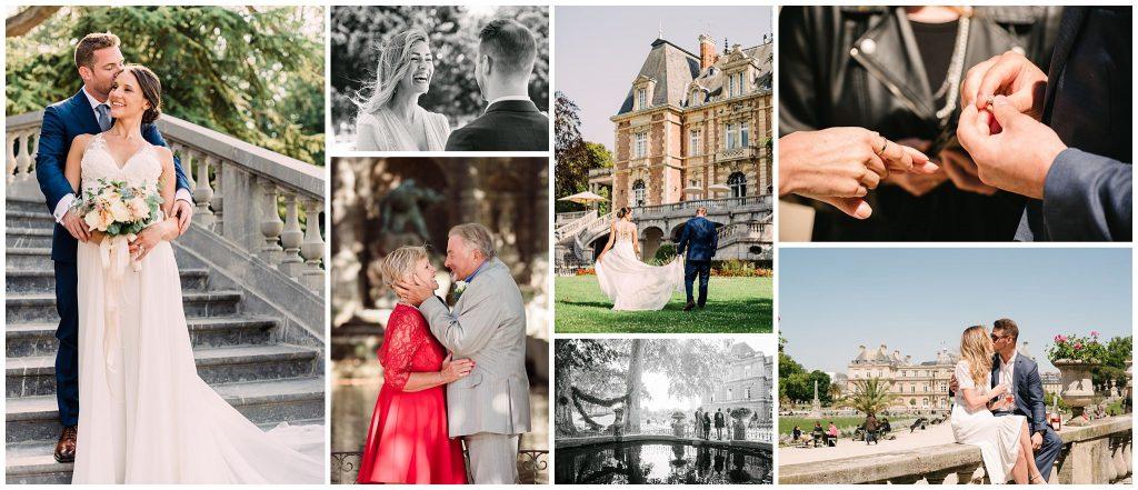elopement photographer in paris france collage paige gribb photography