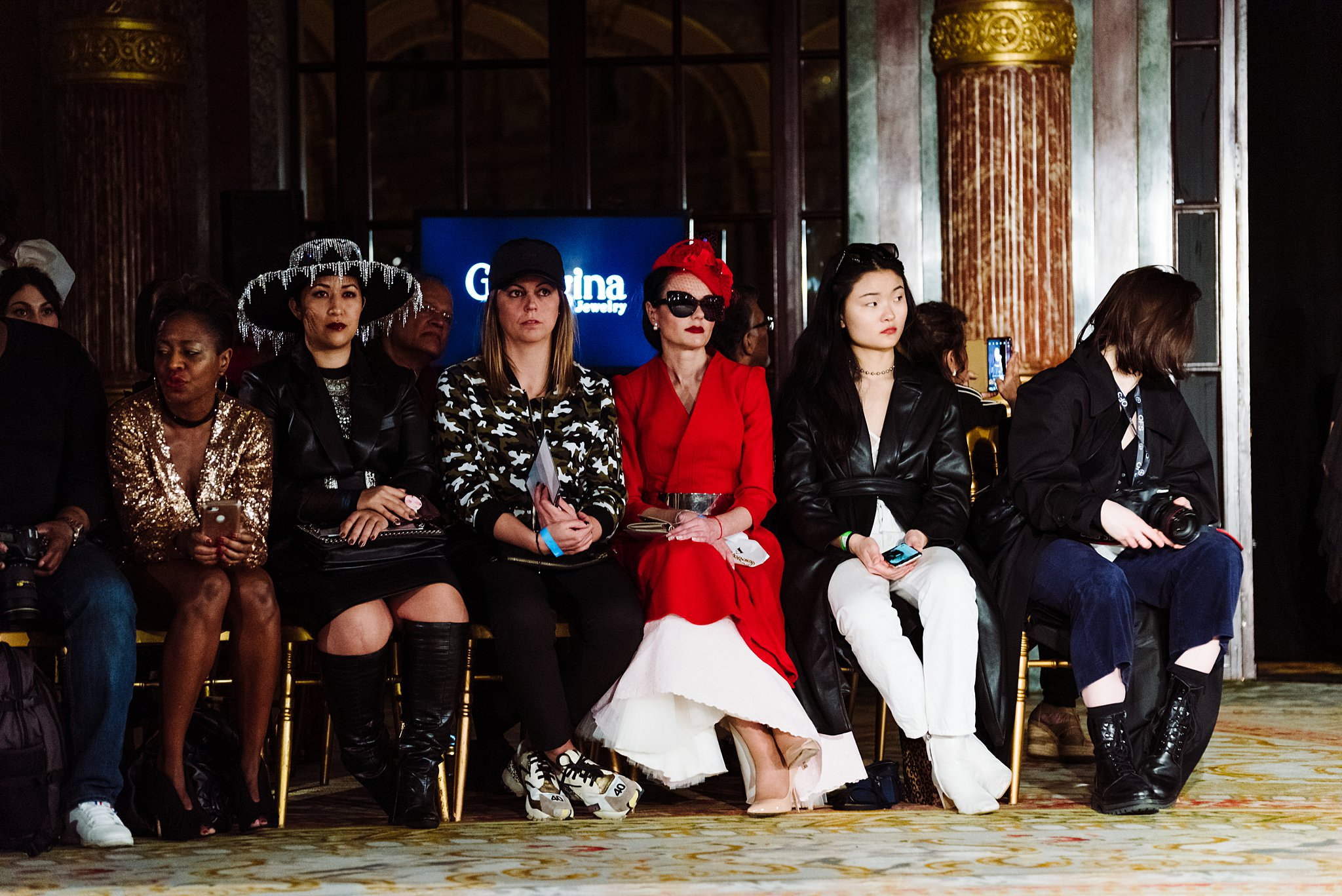 Front-Row Guests at the Oxford Fashion Studios show at Paris Fashion Week, Autumn-Winter 2020