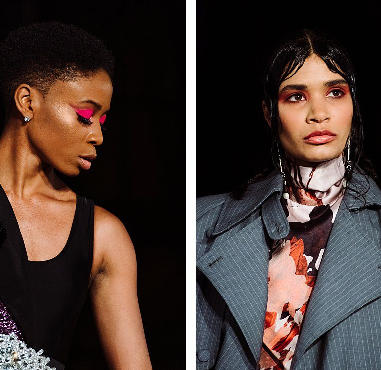 Closeup Photography of Runway Looks at the Oxford Fashion Studios show, Paris Fashion Week AW2020